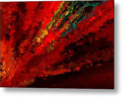 Shades Of Red Digital Art Metal Prints