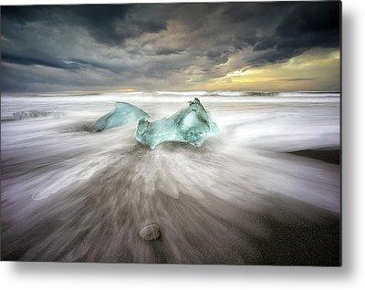Ice Crystal Metal Prints