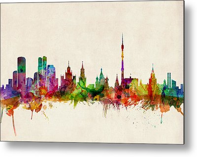 Moscow Skyline Metal Prints