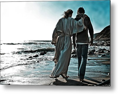 Walking With God Metal Prints