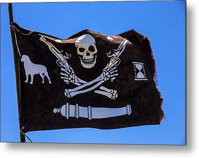 Piracy Jolly Roger Bones Danger Metal Prints