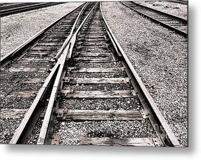 Railroad Tie Metal Prints