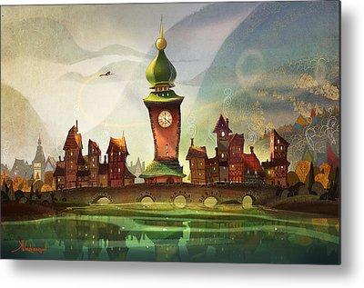 Clock Paintings Metal Prints