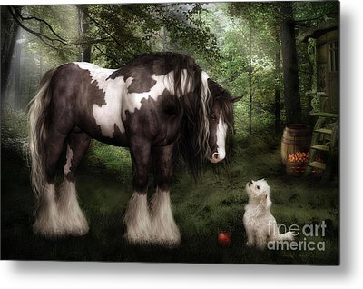 Animal Lover Digital Art Metal Prints