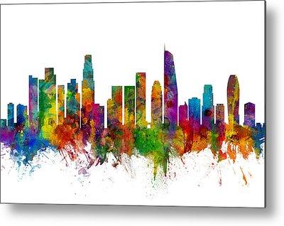 Los Angeles Skyline Metal Prints