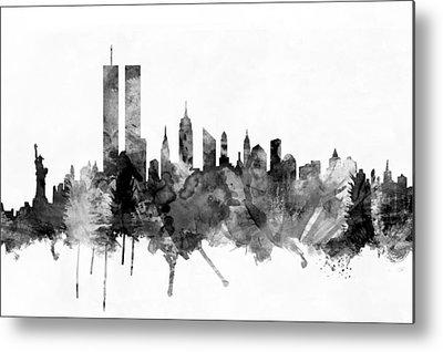 Twin Towers Digital Art Metal Prints