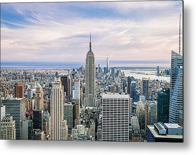 Manhattan Skyline Metal Prints
