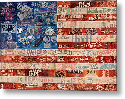 Patriotism Mixed Media Metal Prints