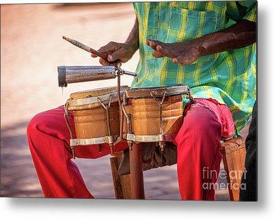 Drum Player Metal Prints