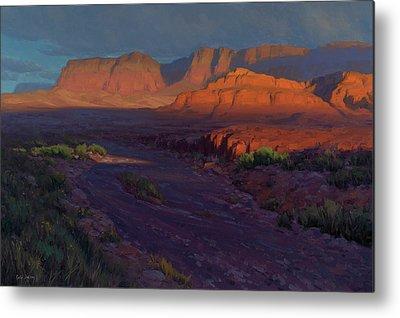 Desert Sunset Metal Prints