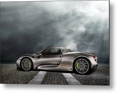 V8 Engine Metal Prints