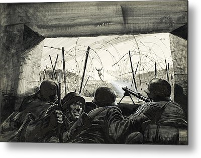 Second Day Of Battle Metal Prints
