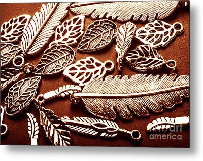 Silver Leaf Metal Prints