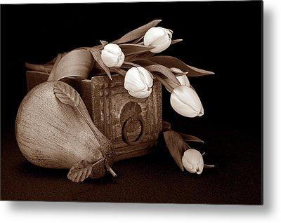 Pear Blossoms Metal Prints