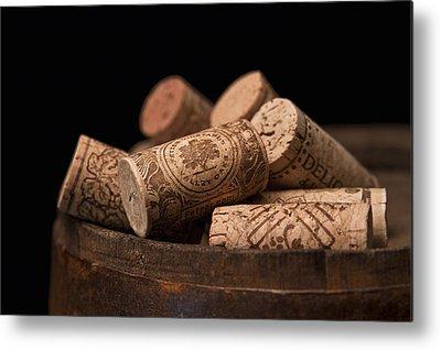 Wine Barrel Photographs Metal Prints