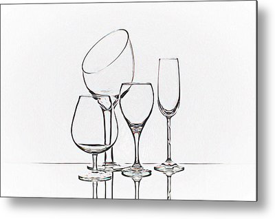 Wine Service Photographs Metal Prints