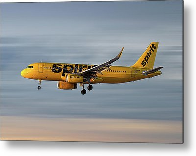 Spirit Airlines Metal Prints