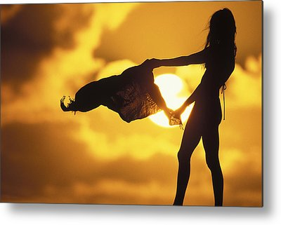 Surf Silhouette Metal Prints