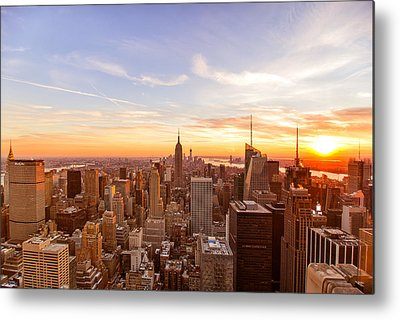 City Sunset Metal Prints