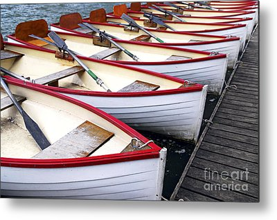 Colorful Boats Metal Prints
