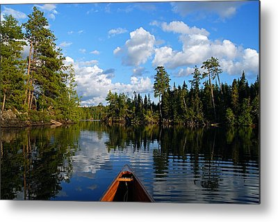 Canoeing Photographs Metal Prints