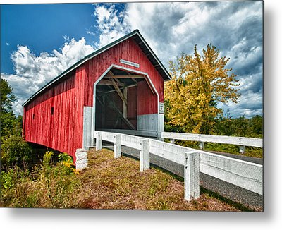 Covered Bridge Metal Prints