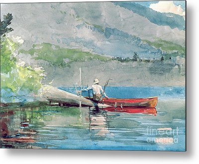 Canoeist Metal Prints