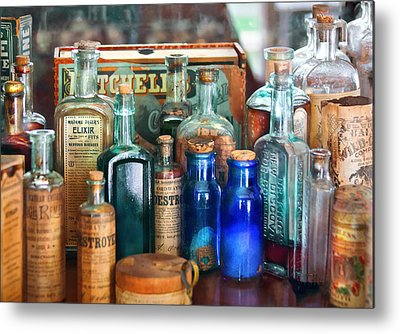 Medicine Bottles Metal Prints