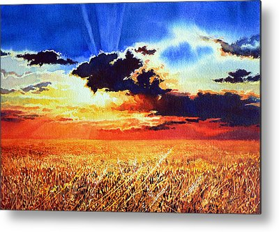 Prairie Sunset Metal Prints