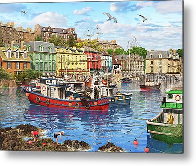 Trawler Drawings Metal Prints