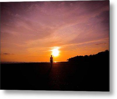 Beach Sunset Metal Prints