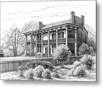 Carnton Plantation Drawings Metal Prints