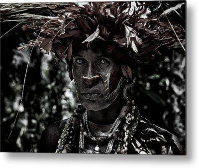 Tribal Woman Metal Prints