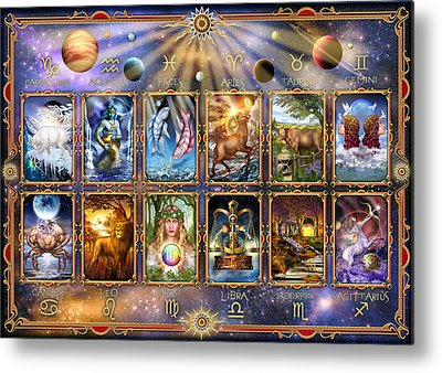 Signs Of The Zodiac Metal Prints