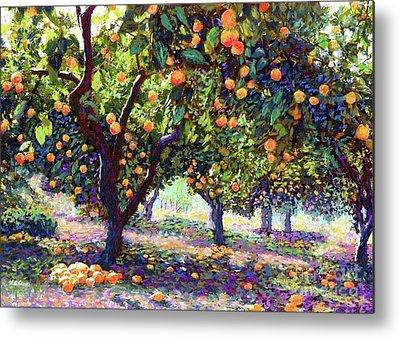 Tangerine Paintings Metal Prints