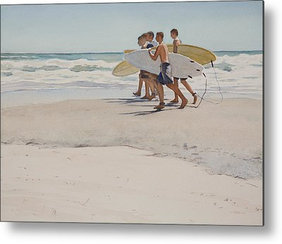 Surfer Art Metal Prints