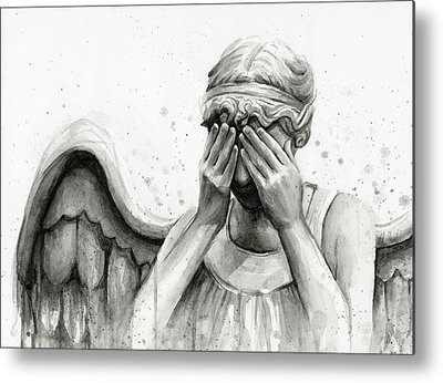 Crying Paintings Metal Prints