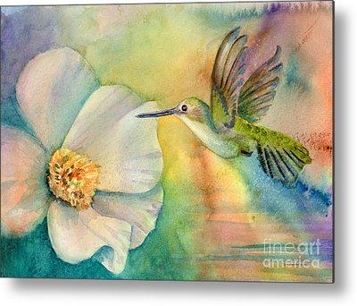 Annas Hummingbirds Metal Prints
