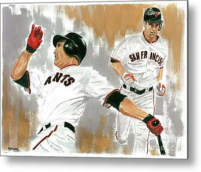 Pat Burrell Paintings Metal Prints
