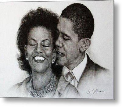 Michelle Et Barack Obama Metal Prints