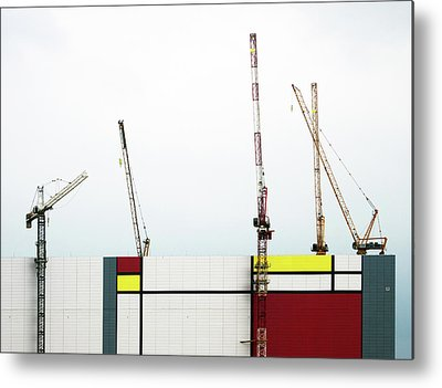 Crane Photographs Metal Prints