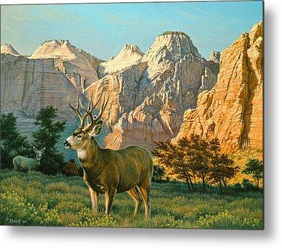 Zion Canyon Metal Prints
