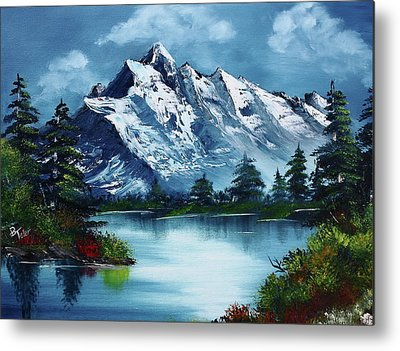 Bob Ross Metal Prints