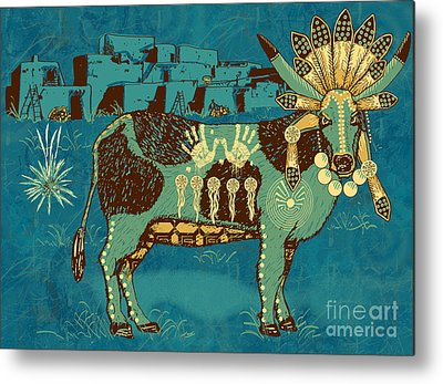Cow Metal Prints