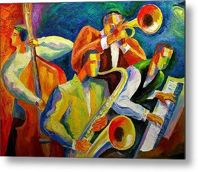 Jazz Drawing Metal Prints