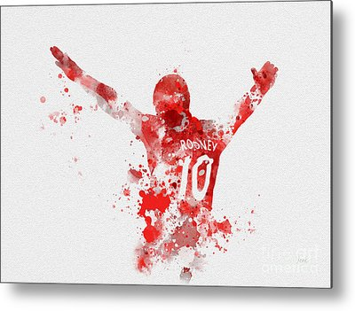 Wayne Rooney Metal Prints