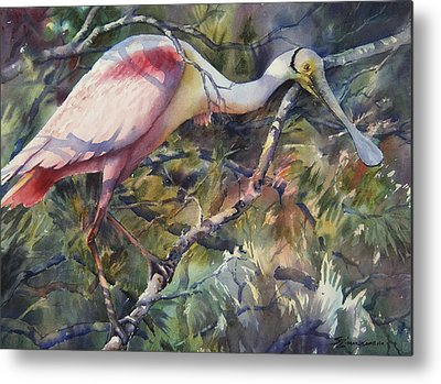 Spoonbill Metal Prints