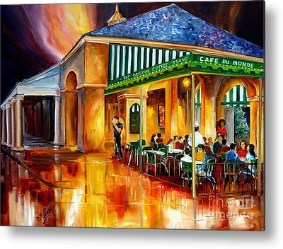 City Cafe Metal Prints