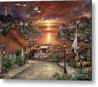New England Village Metal Prints