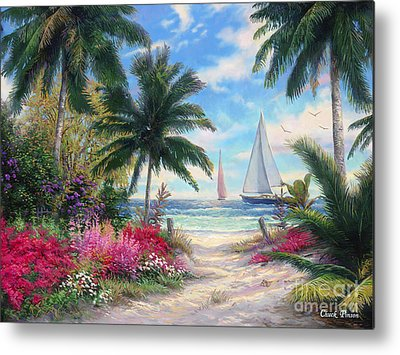 Sailboat Paintings Metal Prints